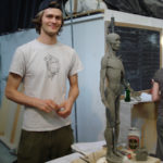 Mr. Mason Sullivan. Mason had been my assistant for 4 years. A good friend, a good student, a great help, and a talented sculptor.